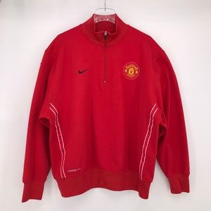 Nike AUTHENTIC MANCHESTER UNITED THERM-FIT 1/2 ZIP